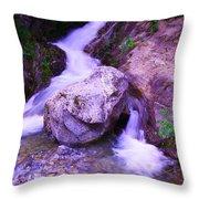 A Boulder Splitting The Rocks Throw Pillow