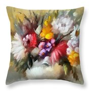 A Bouquet For Caitlin Throw Pillow