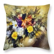 A Bouquet For Elizabeth Throw Pillow
