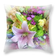 A Bouquet For My Love 46 Throw Pillow
