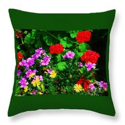 A Bouquet From Bermuda Throw Pillow