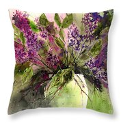 A Bouquet Of May-lilacs Throw Pillow