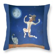 A Bout Of Lunacy Throw Pillow