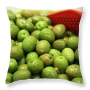 A Bowl Of Black Olives  Throw Pillow