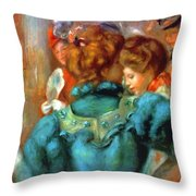 A Box In The Theater Des Varietes 1898 Throw Pillow