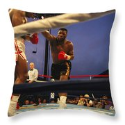 A Boxer Delivers A Punch Throw Pillow by Maria Stenzel