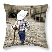 A Boy And His Horse Throw Pillow