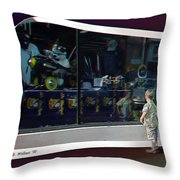 A Boy Can Dream - Use Red-cyan 3d Glasses Throw Pillow