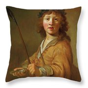 A Boy In The Guise Throw Pillow