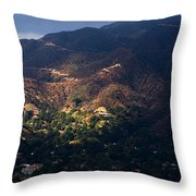 A Break In The Clouds In Southern California Throw Pillow