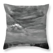 A Break In The Storm Bw Throw Pillow