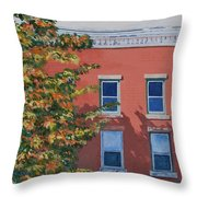 A Brick In Time Throw Pillow