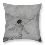 A Bride Waiting For Her Groom Throw Pillow