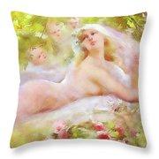 A Brides Fantasy Throw Pillow