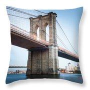 New York Bridge Throw Pillow