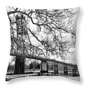 A Bridge In Winter Throw Pillow