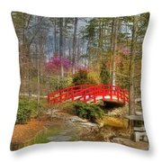 A Bridge To Spring Throw Pillow