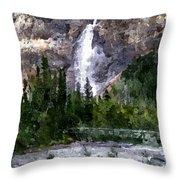 A Bridge To The Falls Throw Pillow