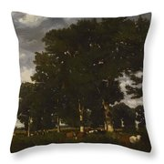 A Bright Day 1840 Throw Pillow