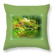 A Bright Garden Throw Pillow