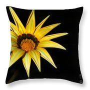 A Bright Yellow Star Throw Pillow