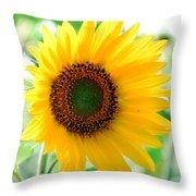 A Bright Yellow Sunflower Throw Pillow