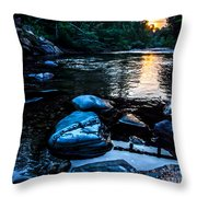 A Browns River Sunset Throw Pillow