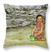 A Bucket Full Of Ocean Throw Pillow