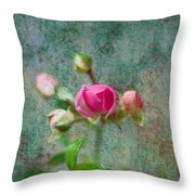 A Bud - A Rose Throw Pillow