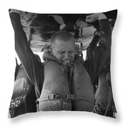 A Buds Student Expresses Pain Throw Pillow by Michael Wood