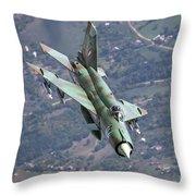 A Bulgarian Air Force Mig-21bis Armed Throw Pillow