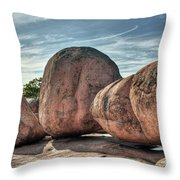 A Bunch Of Bolders Throw Pillow