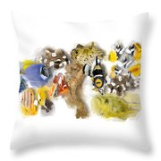 A Bunch Of Colorful Fish No 05 Throw Pillow