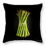 A Bunch Of Fresh Asparagus. Throw Pillow