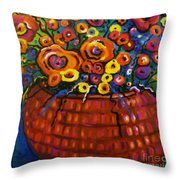 A Bunch Of Poppies Throw Pillow