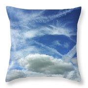 A Busy Sky Throw Pillow