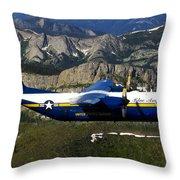 A C-130 Hercules Fat Albert Plane Flies Throw Pillow