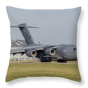 A C-17 Globemaster Strategic Transport Throw Pillow