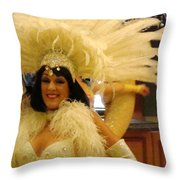 People Series - A C Showgirl Throw Pillow