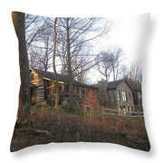A Cabin On The Hill Throw Pillow
