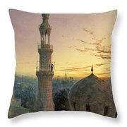 A Call To Prayer Throw Pillow