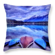 A Calm Afternoon At Lake Edith Throw Pillow