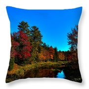 A Calm Fall Day On The Upper Moose Throw Pillow