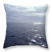 A Calm Ocean With Small Ripples Throw Pillow