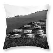 A Camper Settlement Throw Pillow