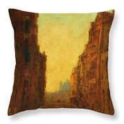 A Canal In Venice Throw Pillow