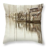 A Canal View Throw Pillow