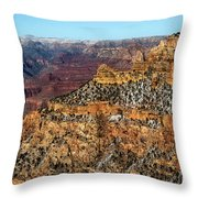 A Canyon Winter Throw Pillow
