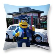 A Cop Of Coffee Series Y7520 Throw Pillow