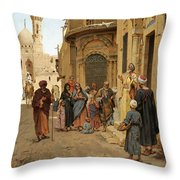 A Captive Audience. Cairo Throw Pillow